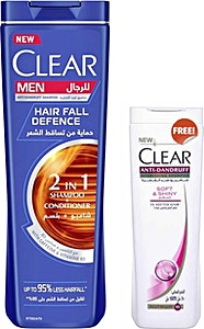 Clear 2-in-1 Hair Fall Defence For Men 360 ml + 180 ml Free