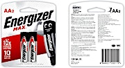 Energizer Battery Max AA 2's