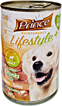Prince Adult Dog Food Chicken & Turkey & Vegetables Can 405 g