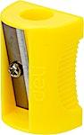 Deli Neon Pencil Sharpener Yellow 1's