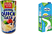 Red & White Quick Oats + Candia Milk Half Skimmed 1 L @Special Price