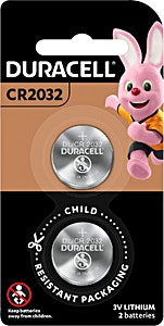 Duracell Battery CR2032 - 2's