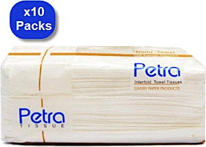 Petra White Tissues 200 g - Pack of 10
