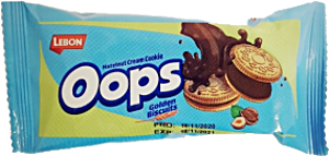 Lebon Oops Hazelnut Cream Cookie Golden Biscuits 37 g