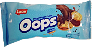 Lebon Oops Chocolate Cream Cookie Golden Biscuits 37 g