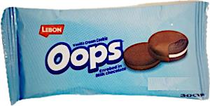 Lebon Oops Vanilla Cream Cookie Enrobed Milk Chocolate 30 g