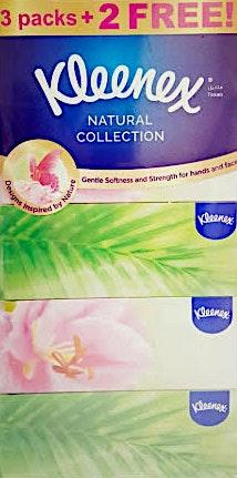 Kleenex Natural Soft Tissues 170's - 3 + 2 Free