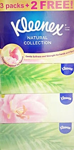 Kleenex Natural Soft Tissues 170's - 3 + 2 Free