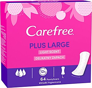 Carefree Plus Large Light Scent Mega Pack 44+20's