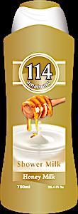 114 Shower Gel Honey Milk 750 ml
