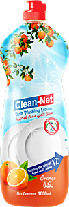 Clean-Net Dishwahing Liquid Orange 1000 ml