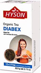 Hyson Diabex Organic tea bags 15's