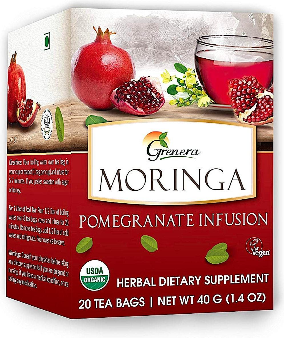 Moringa Pomegranate Infusion Tea bags 20's @30% OFF