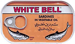 White Bell Sardines in Vegetable Oil 125 g