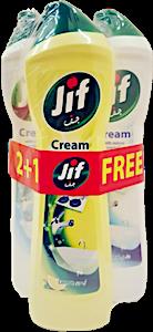 Jif Cream Original 2x500 ml + Free Jif Lemon 450 ml