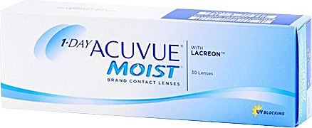 Acuvue 1-Day Moist Contact Lenses D-2.00 1's