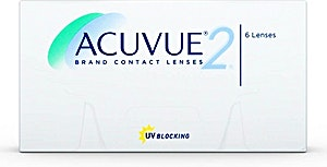 Acuvue 2 Contact Lenses D-1.00 6's