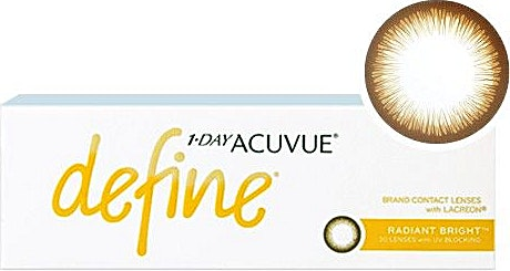 Acuvue 1-Day Define Radiant Bright D-2.75 1's