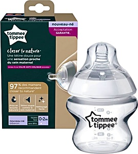 Tommee Tippee Feeding Bottle Closer To Nature 0-2m White 150 ml