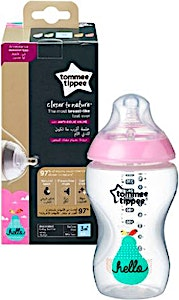 Tommee Tippee Feeding Bottle Closer To Nature 3m+ Pink 340 ml