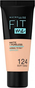 Maybelline Fit Me Liquid Foundation Soft Sand no.124