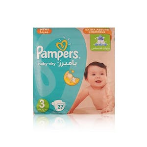 Pampers Midi 3 27's