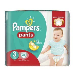 Pampers Pants 3 26's
