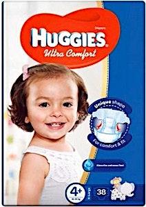 Huggies Ultra Comfort 4+ 38's