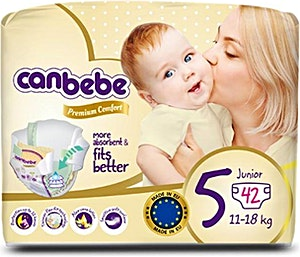 Canbebe Diapers Size 5 42's