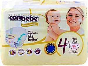 Canbebe Diapers Size 4+  45's
