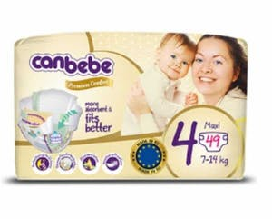 Canbebe Diapers Size 4  49's