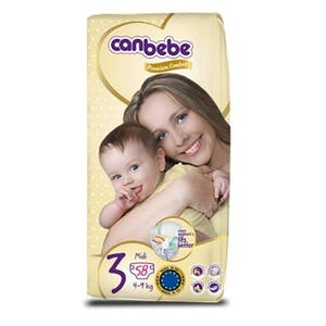 Canbebe Diapers Size 3  58's
