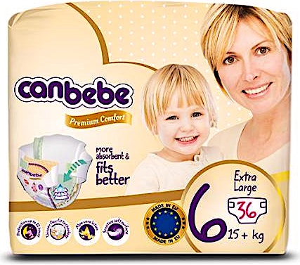 Canbebe Diapers Size 6  36's