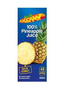 Maccaw Pineapple Juice 200 ml