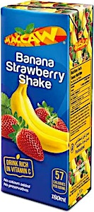 Maccaw Banana Strawberry Shake 200 ml