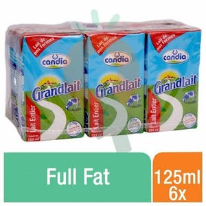 Candia UHT Milk Full Fat 125 ml - Pack Of 6