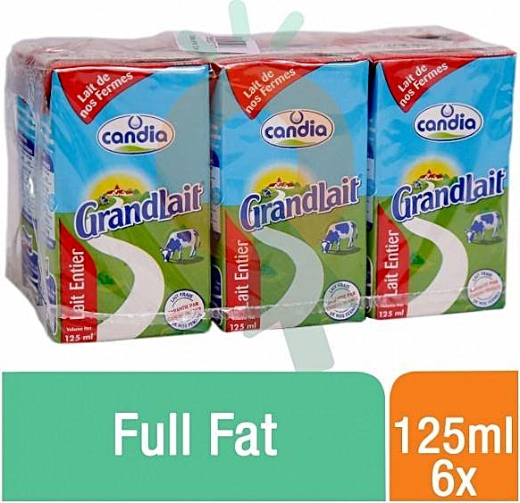 Candia UHT Milk Full Fat 125 ml - Pack Of 6