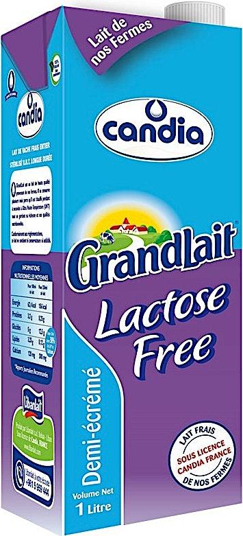 Candia UHT Milk Half Skimmed Lactose Free 1 L