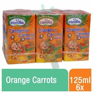 Candia Nectar Orange Carrots 125 ml - Pack of 6