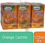 Candia Orange Carrots 125 ml - Pack of 6