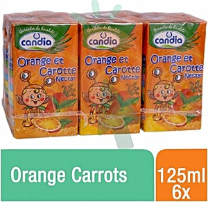 Candia Orange Carrots 125 ml - Pack of 6