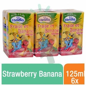 Candia Nectar Strawberry Banana 125 ml - Pack of 6