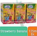 Candia Strawberry Banana 125 ml - Pack of 6