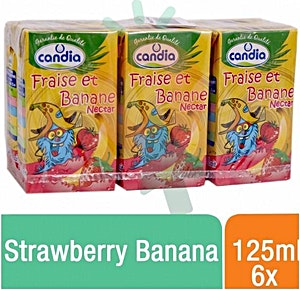 Candia Strawberry Banana 125 ml - Pack of 6