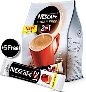 Nescafe 2-in-1 Sugar Free 25's + 5's Free