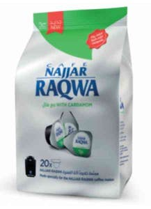 Najjar Raqwa Capsule With Cardamom Bag 20's