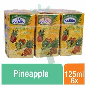 Candia Nectar Pineapple 125 ml - Pack of 6