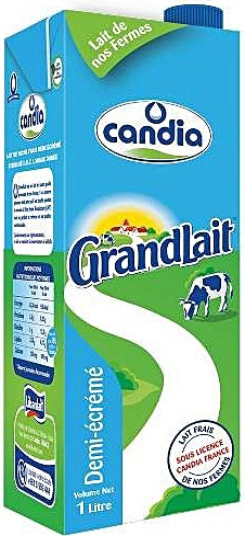 Candia UHT Milk Half Skimmed 1 L