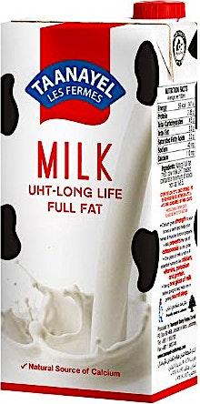 Taanayel UHT Full Fat Milk 1 L