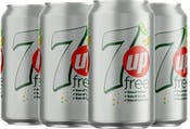 Diet 7up Can 330 ml - Pack of 4